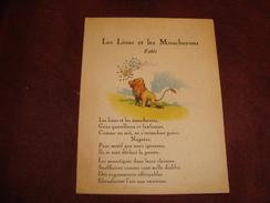 Fable Les Lions Et Les Moucherons Lion Noir - Pubblicitari