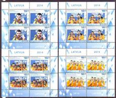Latvia 2014. Latvian Medal Winners. 4 Ss. Pf. MNH - Latvia
