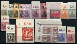 99999.263) DEUTSCHES REICH Germania Oberränder - Lot Postfrisch, 150.- € - Germania