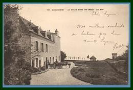 CPA Locquirec Le Grand Hôtel Des Bains La Mer Voy. Blanc1902 Attelage - Locquirec