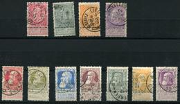 99999.277) BELGIEN - Lot Gestempelt, 62.- € - 1869-1883 Leopold II.