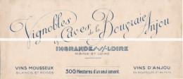 Ancien Buvard Publicitaire Vignobles Et Caves De La Bougraie Anjou Ingrandes Sur Loire - Blotters