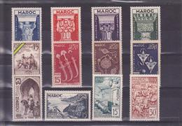 Maroc Années 1952/1953 Du N° 315 Au N° 326 En Timbres Neufs ** Soit 12 Valeurs - Maroc (1891-1956)