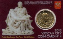 VATICANO COIN CARD 2013  N°4 - CON 50 CENTESIMI FDC BENEDETTO XVI - VATICAN CITY - Vaticano