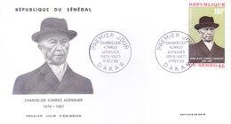 SENEGAL - 17-02-1968 FIRST DAY COVER - CHANCELIER KONRAD ADENAUER - Senegal (1960-...)
