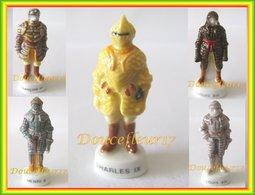 Armures Des Rois De France I ..Lot De 5 Fèves ... Ref AFF : 88-2004 ..( Pan 005) - History