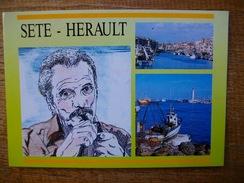 Hérault , Sète , Multi-vues Et Georges Brassens - Sete (Cette)