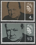 Great Britain. 1965 Churchill Commemoration. MH Complete Set. SG 661-662 - 1952-.... (Elizabeth II)