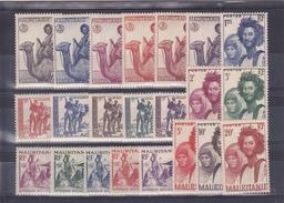 Mauritanie Série Du N° 73 Au N° 94 Ensemble De 22 Timbres Neufs Avec Charnière * - Nuevos