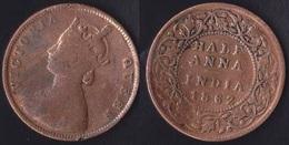 Half Hanna 1862 British India Britannica Victoria Queen - India