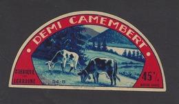 Etiquette De Fromage Demi Camembert  -  Fromagerie Pierson  à  Thil  (54 B) - Fromage
