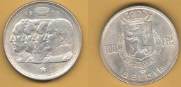 100 Francs 1951 Belgique Belgium Belgio - 1945-1951: Regency