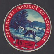 Etiquette De Fromage Camembert  -  Fromagerie Pierson  à  Thil  (54 B) - Fromage