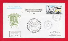 Pli  (MIDWINTER   21/6/1990 ) De Dumont D'Durville Adélie ) - Covers & Documents