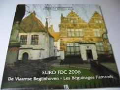 RARE COULEUR SET FDC 2006 BEGUINAGES FLAMANDS - 1993-...: Albert II