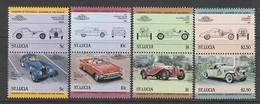 SERIE NEUVE DE SAINTE-LUCIE - AUTOMOBILES N° Y&T 644 A 651 - Cars