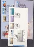 AAT 1984/1987 Antarctic Scenes 3x5v 5 FDC (F6069) - FDC