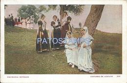 64164 GREECE LEUCADE COSTUMES WOMAN'S POSTAL POSTCARD - Greece