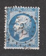 Empire N° 22  Avec VARIETE Tache Blanche Obl GC 338 De BASTIA  , Corse  TB - 1862 Napoleon III