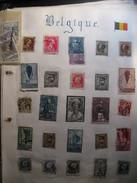 Lot De Timbres Anciens De Belgique - Colecciones