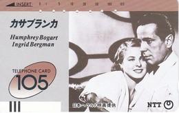 TARJETA DE JAPON DE HUMPHREY BOGART E INGRID BERGMAN (230-029) CINE-CINEMA - Japón