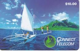 TARJETA DE ESTADOS UNIDOS DE CONNECT TELECOM DE UN BARCO (SHIP)  (FOOTBALL)  $10 - Estados Unidos