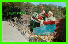 SANTA CLAUS - NORTH POLE, NY - SANTA GREETS YOU FROM HIS SLEIGH AT SANTA'S WORKSHIP - TRAVEL IN 1953 - - Santa Claus