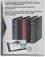 Leuchtturm Album With 50 Clear 2-pocket Sheets For 100 Postcards - Blue Pockets Hold 4x6 Cards - Matériel