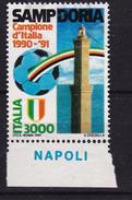 1991 MiNr. 2184 Fussball: Sampdoria Campione  Gestempelt (b170903) - 6. 1946-.. Repubblica
