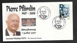 Pierre Pflimlin  Y&T N° 4078   Enveloppe 1er Jour 07.07.2007  Livraison Gratuite - FDC