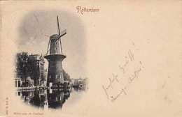 Litho Vorläufer ROTTERDAM - Windmühle, Gel.1898 V.Rotterdam > Wien - Rotterdam
