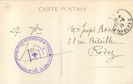GAP CACHET SOCIETE FRANCAISE DE SECOURS AUX BLESSES MILITAIRES 14e REGION HOPITAL AUXILIAIRE CROIX ROUGE 2 SCANS - Storia Postale