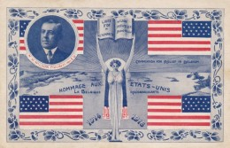 Belgium Homage To USA President Wilson, Commission For Relief In Belgium Organization, C1910s Vintage Postcard - War 1914-18