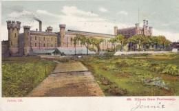 Illinois State Penitentary Prison Exterior View, C1900s Vintage Postcard - Prison