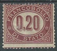 1875 REGNO SERVIZIO DI STATO 20 CENT MH * - P45-3 - Servizi