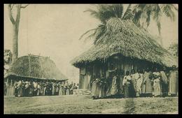 TIMOR - Casas Da Guarda( Servem No Arrolamento). ( Ed. Da Missão)    Carte Postale - Timor Oriental