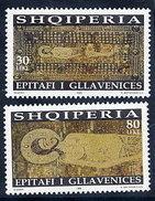 Albania Stamp 1998. Orthodox Epitaph Of Gllavenica. Set MNH. Mich. 2666-2667 - Albania