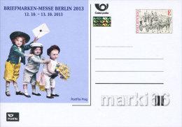 Czech Republic - 2013 - Berlin 2013 Stamp Exhibition - Postcard With Hologram And Original Stamp - Postwaardestukken