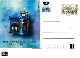 Czech Republic - 2016 - International Stamp Exhibition In Berlin - Postcard With Printed Stamp And Hologram - Postwaardestukken
