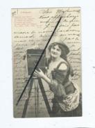 CPA Fantaisie - L'Objectif  (  Photographe ,photo , Appareil Photo) - Appareils Photo