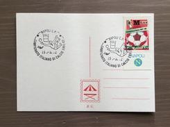 Cartoncini Retro Cartolina Annullo Campionato Italiano Di Calcio Serie A 1991-92 Napoli 15-3-1992 - Calcio