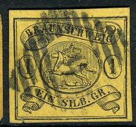 Stamp German States Brunswick  1853-63  1sgr Imperf Used Lot#4 - Brunswick