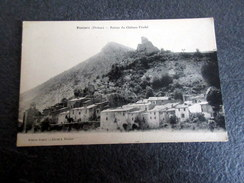 CPA - PONTAIX (26) - Village Et Ruines Du Château Féodal - Andere Gemeenten