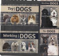 NEVIS, MNH, DOGS, 2 SHEETLETS + 2 S/SHEETS - Dogs