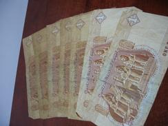 7 BILLETS DE 1 POUND EGYPTE - Egypte
