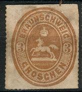 Stamp German States Brunswick  1865  3gr  Mint Lot#41 - Braunschweig