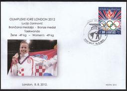 Croatia Zagreb 2012 / Olympic Games London / Taekwondo / Lucija Zaninovic Bronze Medal Winner