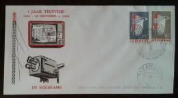 SURINAM - FDC 1966 - YT N°443, 444 - Télévision - Surinam