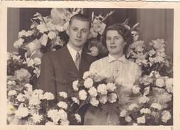 Postkaart, Fotokaart, Huwelijksfoto (?) (pk31879) - Couples