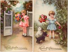 Hannes Petersen - Anniversaire, Enfants Fille Fleurs X 2 - Petersen, Hannes